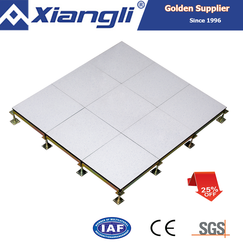 hot sale production anti-static calcium sulphat raised floor for computer room or data center for sale