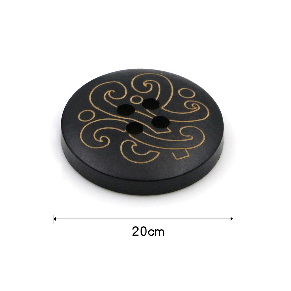 TM565-1 custom logo engraved wood button for shirts for sale