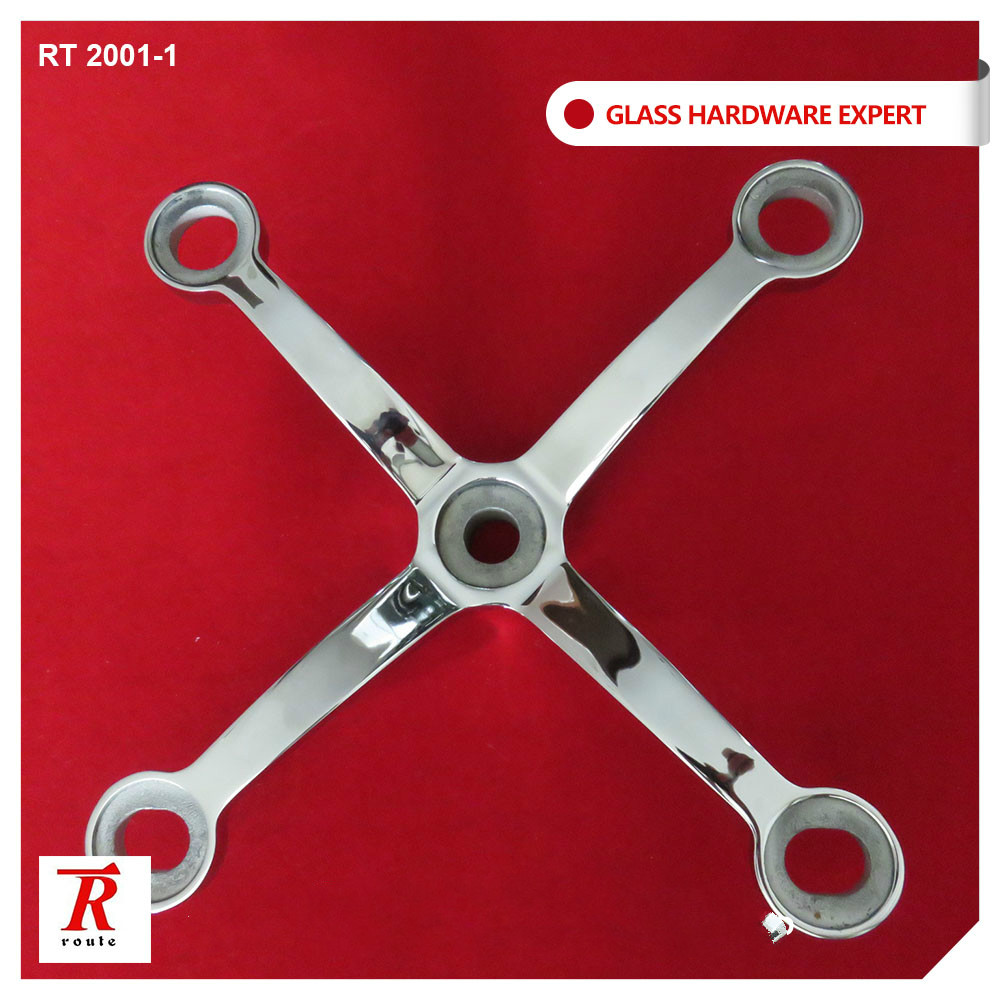 RT 2201-1 4 arms stainless steel glass spider hardware for sale