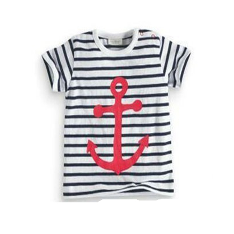 2018 Round Neck Strip Pattern Full Printing High Quality Hot Sale Kids T shirt Wholesale sale