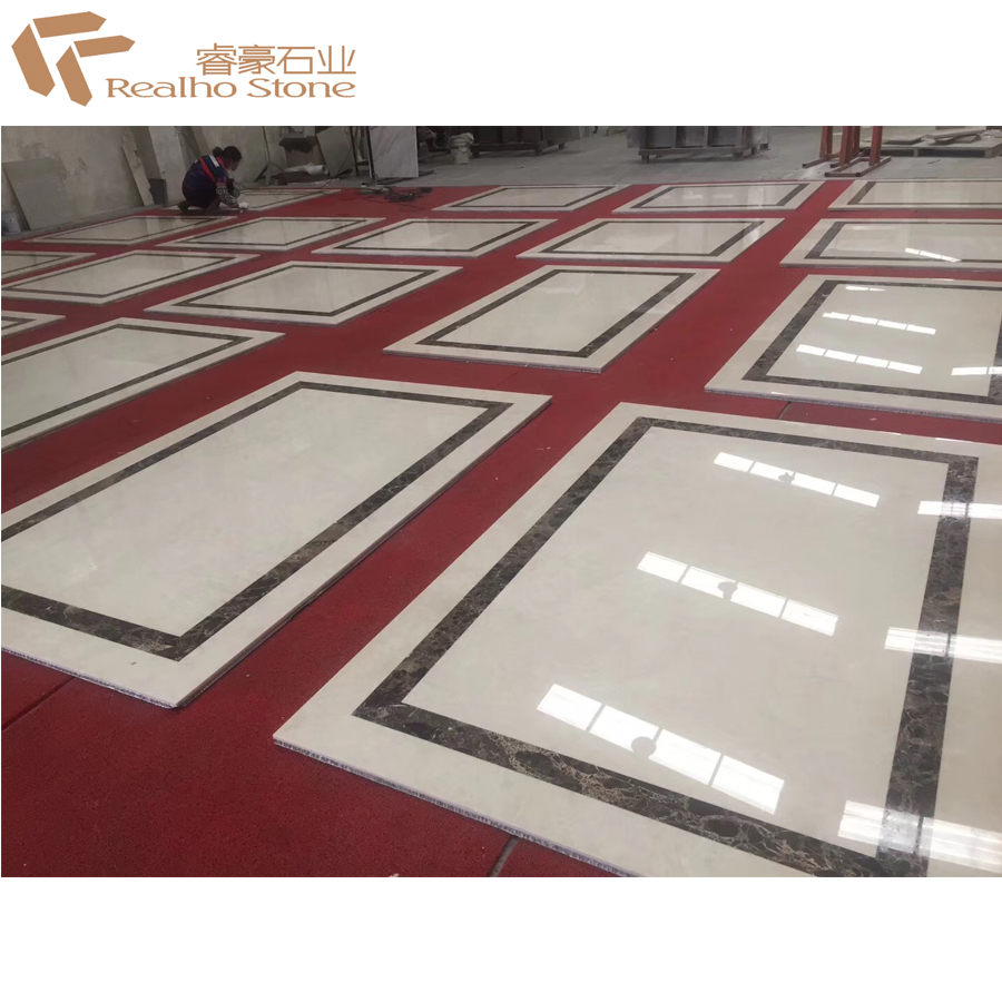 RH17011701 Nature Waterjet Marble Aluminum Honeycomb Tiles For Wall Cladding for sale