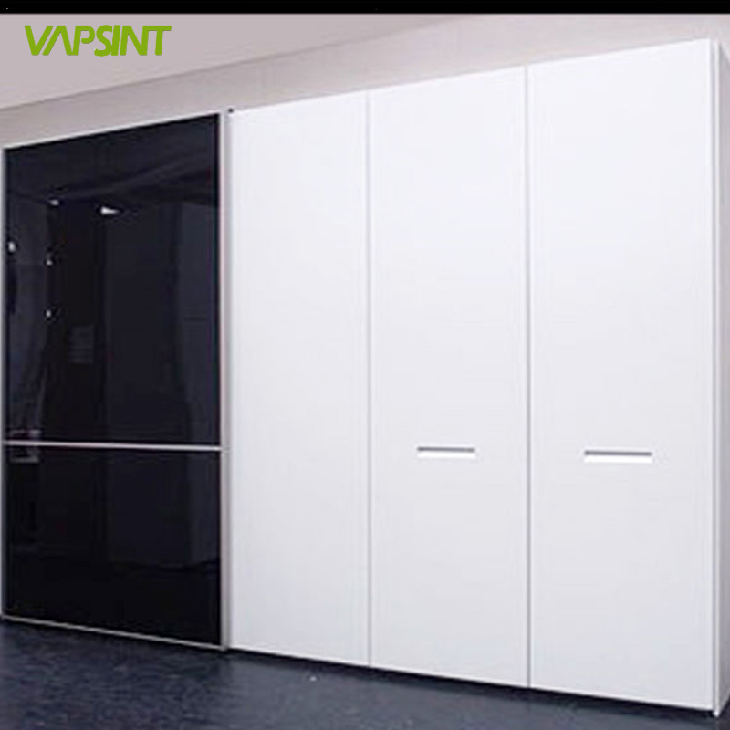 Vs Cl Md High Gloss Lacquer Black And White Wardrobe For