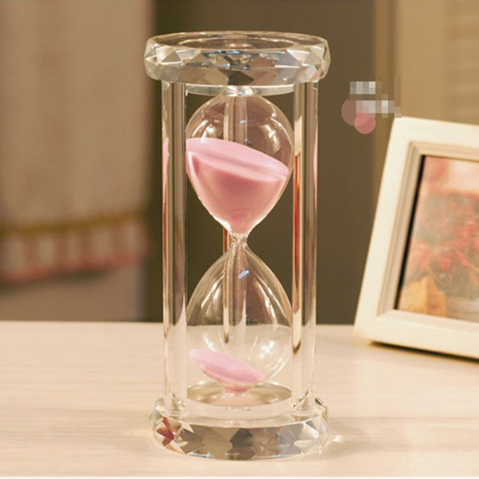 wholesale sandglass with different color for crystal heart gift for sale
