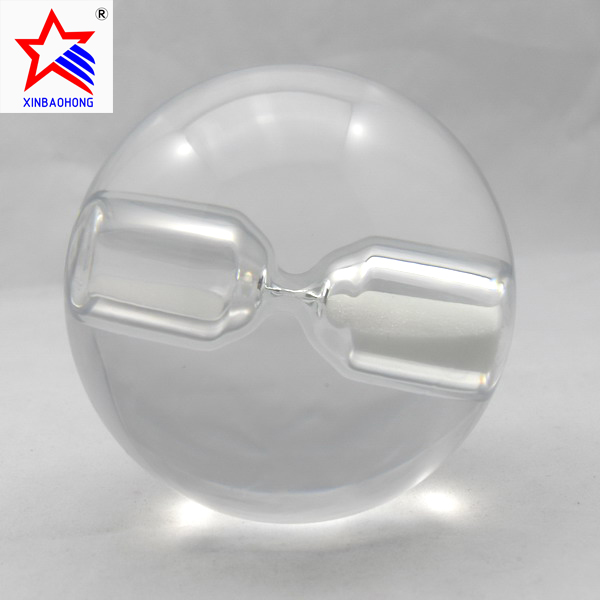XBH-81237 hot selling sandglass craft crystal hourglass ball for sale