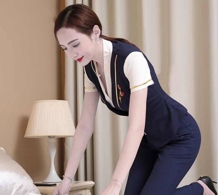 Chinese clothing manufacturers bulk wholesale star hotel staff uniform on Sale