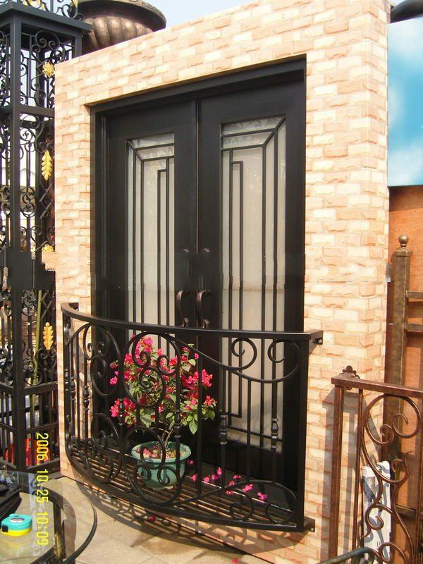 Forged Iron Door with Operable glass sale