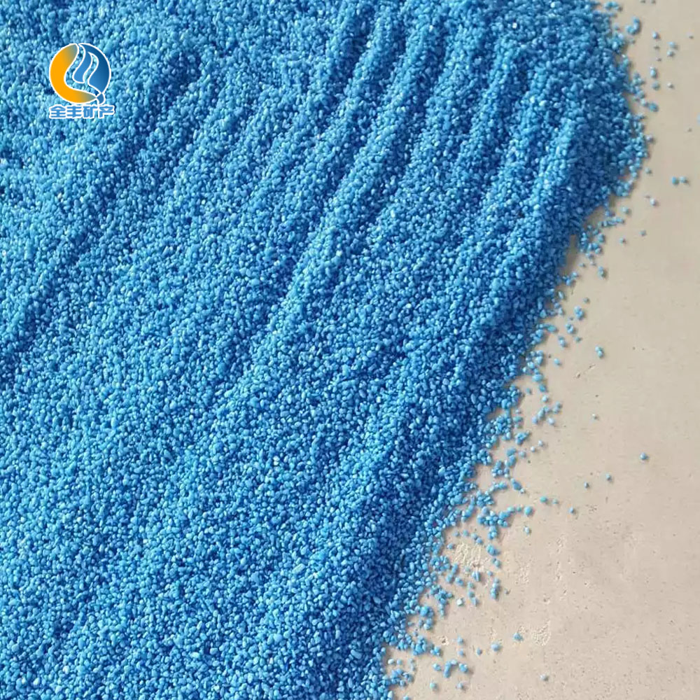 QF colored sand Artifical dye color sand-various colors for sale
