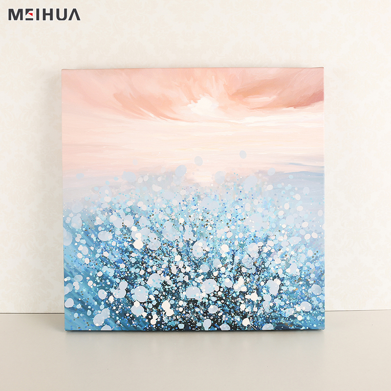 Hot selling bedroom canvas abstract painting picture frame wall art for living room sale