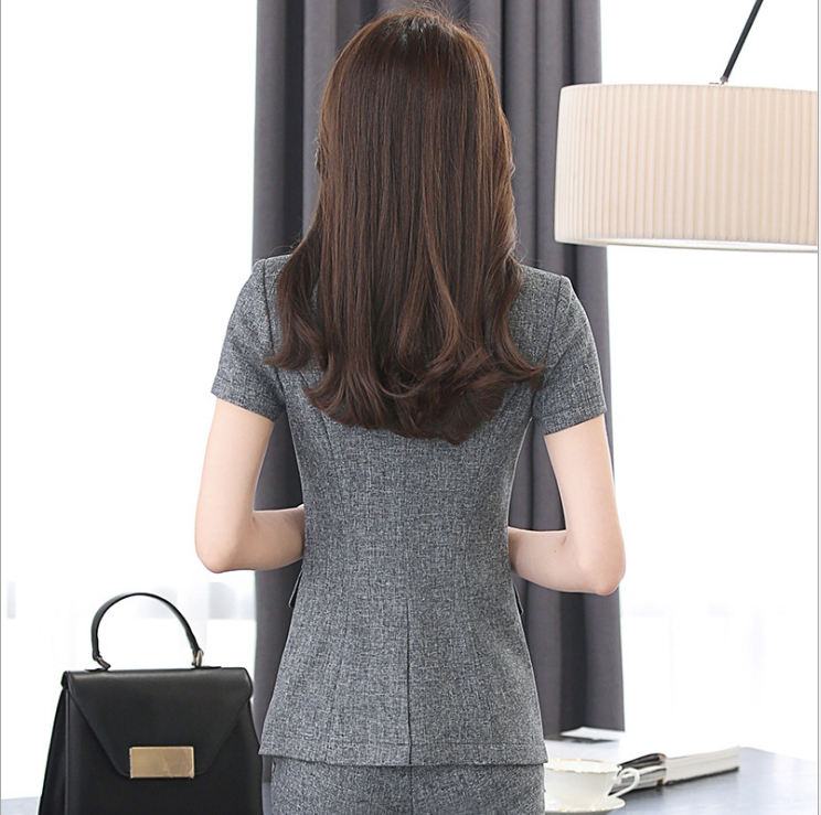 Custom office women formal two-piece suit dress new fashion suit for autumn and spring on sale