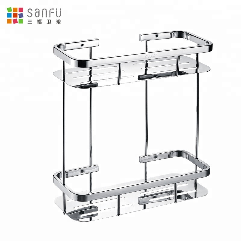 SUS304 Stainless steel frame shelf Bathroom steel plate frame double square frame 1.0MM thick steel plate sale