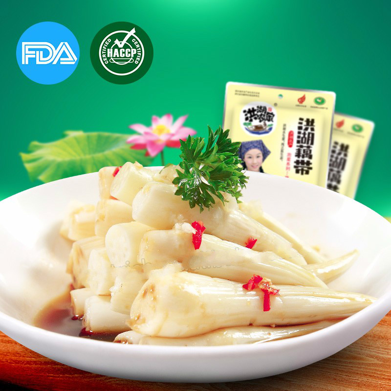 salty and spicy favour of lotus root tip, pickled vegetable, kimchi food sale