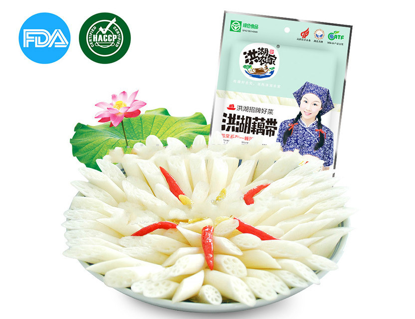 baby lotus root in pickled vegetable, sour and hot taste sale