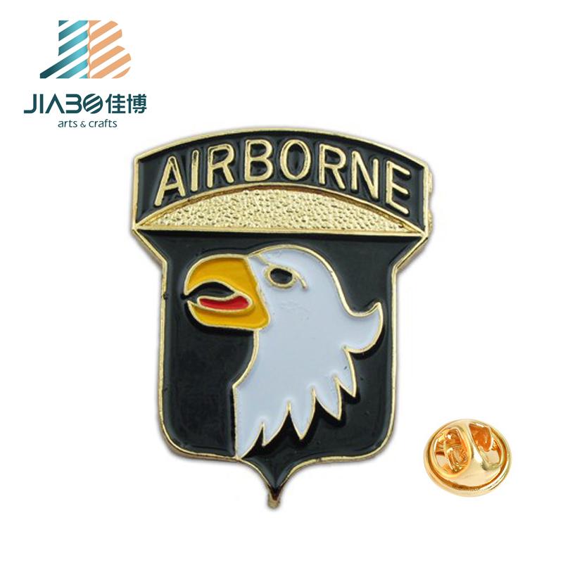 Wholesale customized black nickel plating metal enamel military badge insignia for sale