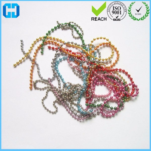 Wholesale Metal Iron Bead Chain Steel Tag Card Ball Chain for sale