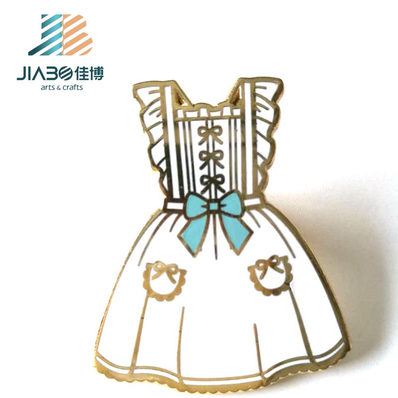 Professional custom made hard enamel gold princess dress metal lapel pins for sale