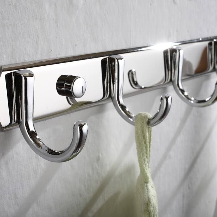 Stainless Steel Shiny Wall Mounted Robe Hook For Bathroom sale