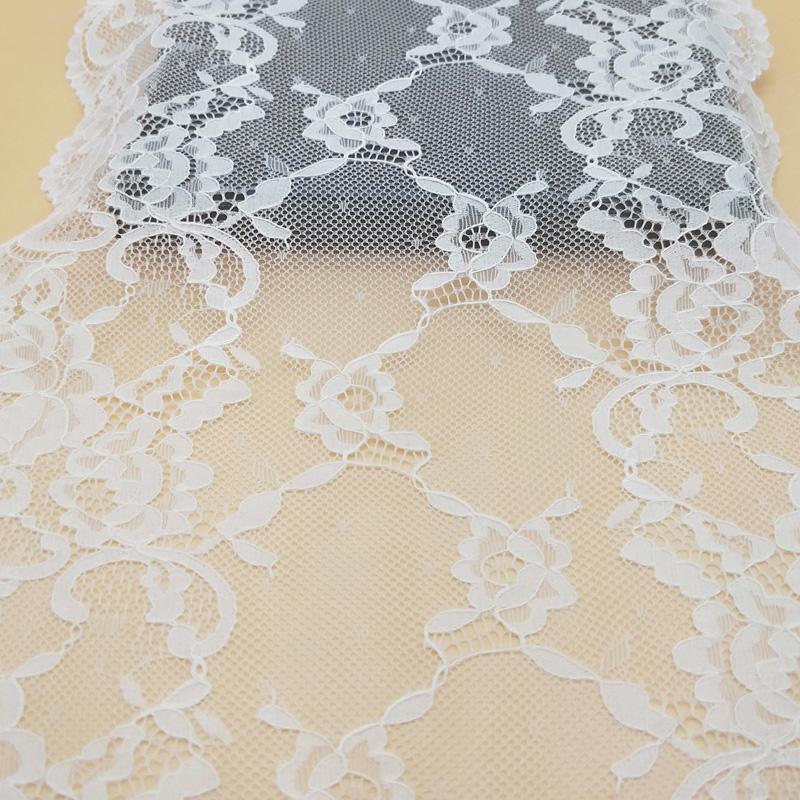 New design 21.5 cm fancy high quality elastic lingerie Turkish lace trim sale