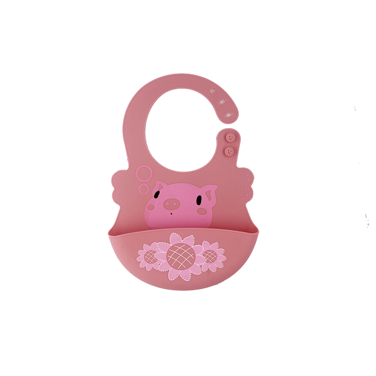 JMB-1 China factory FDA silicone baby bib with pocket for sale