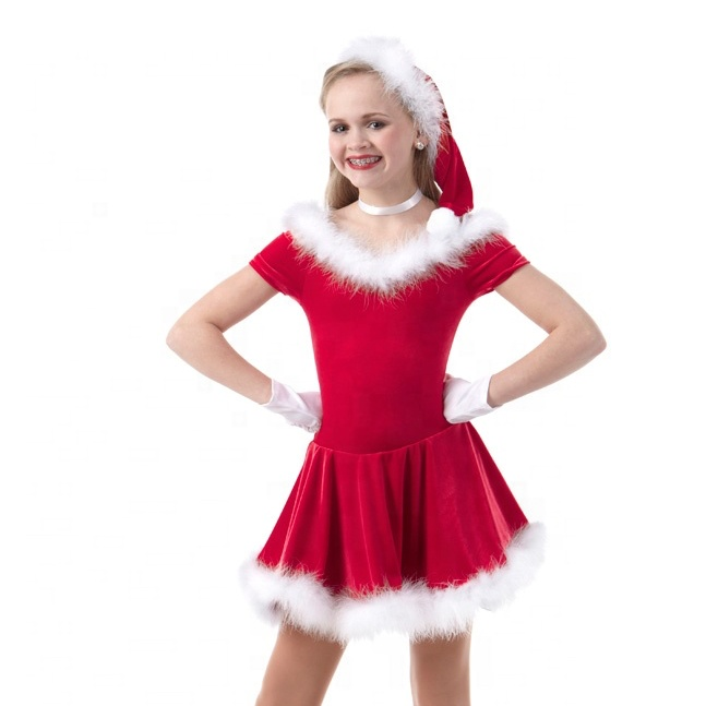 Christmas Lovely dance Dress Stage Costumes /kids party dress for sale