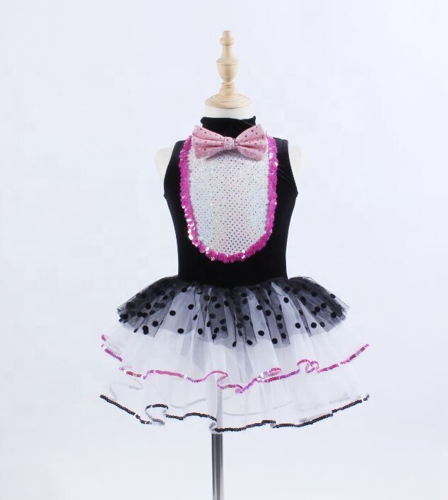 Little cat girl ballet tutu skirt lovely wave point dance costume animals stage performance dance wear for sale