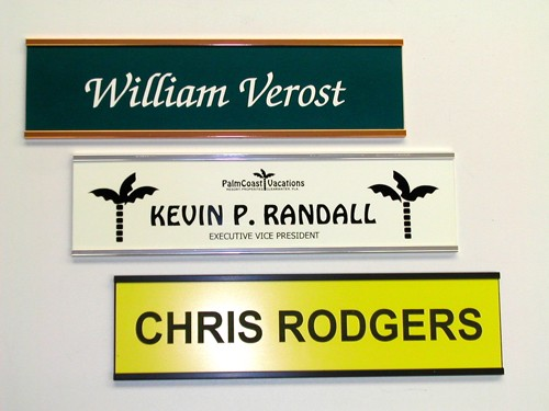 JINDA custom wall signs 2 x 12 inch Engraved or print Name Plate door sign sale