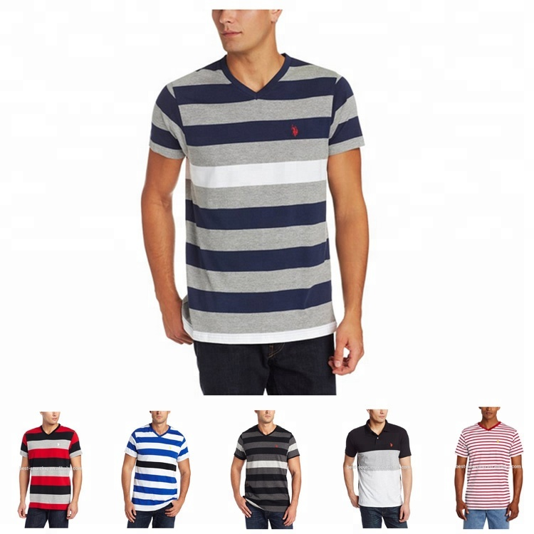 Fashion dress Anti-Wrinkle black and white stripe t-shirt for sale