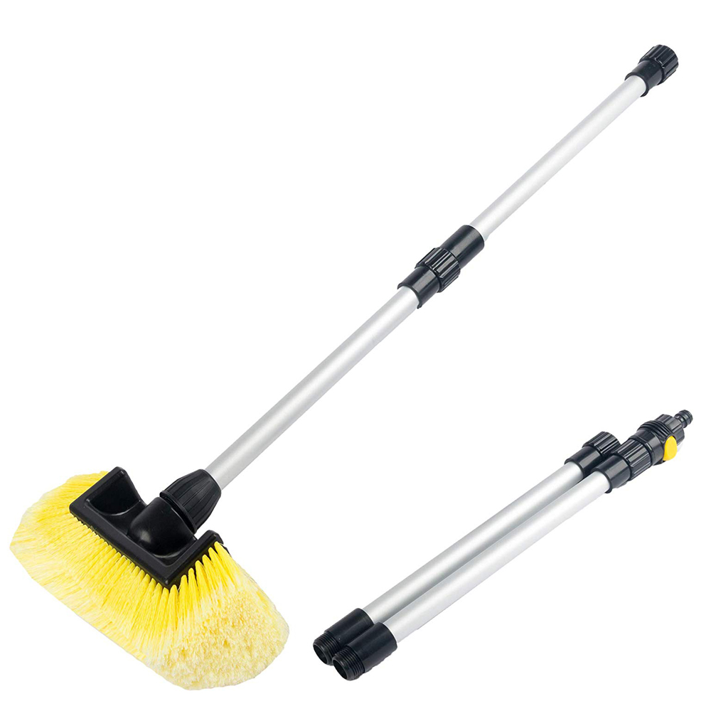 Vehicle Wash Brush with Soft Bristle And Dismountable Handle, Includes On/Off Water Control For Maximum Cleaning for sale