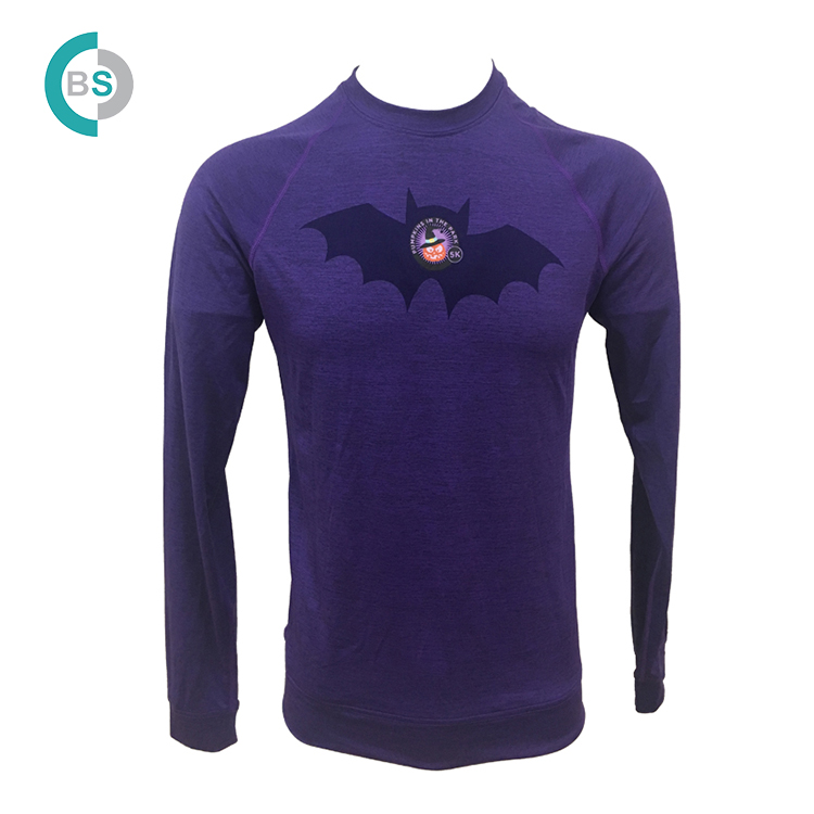 88%polyester 12%spandex custom designs long sleeve men t shirt for sale