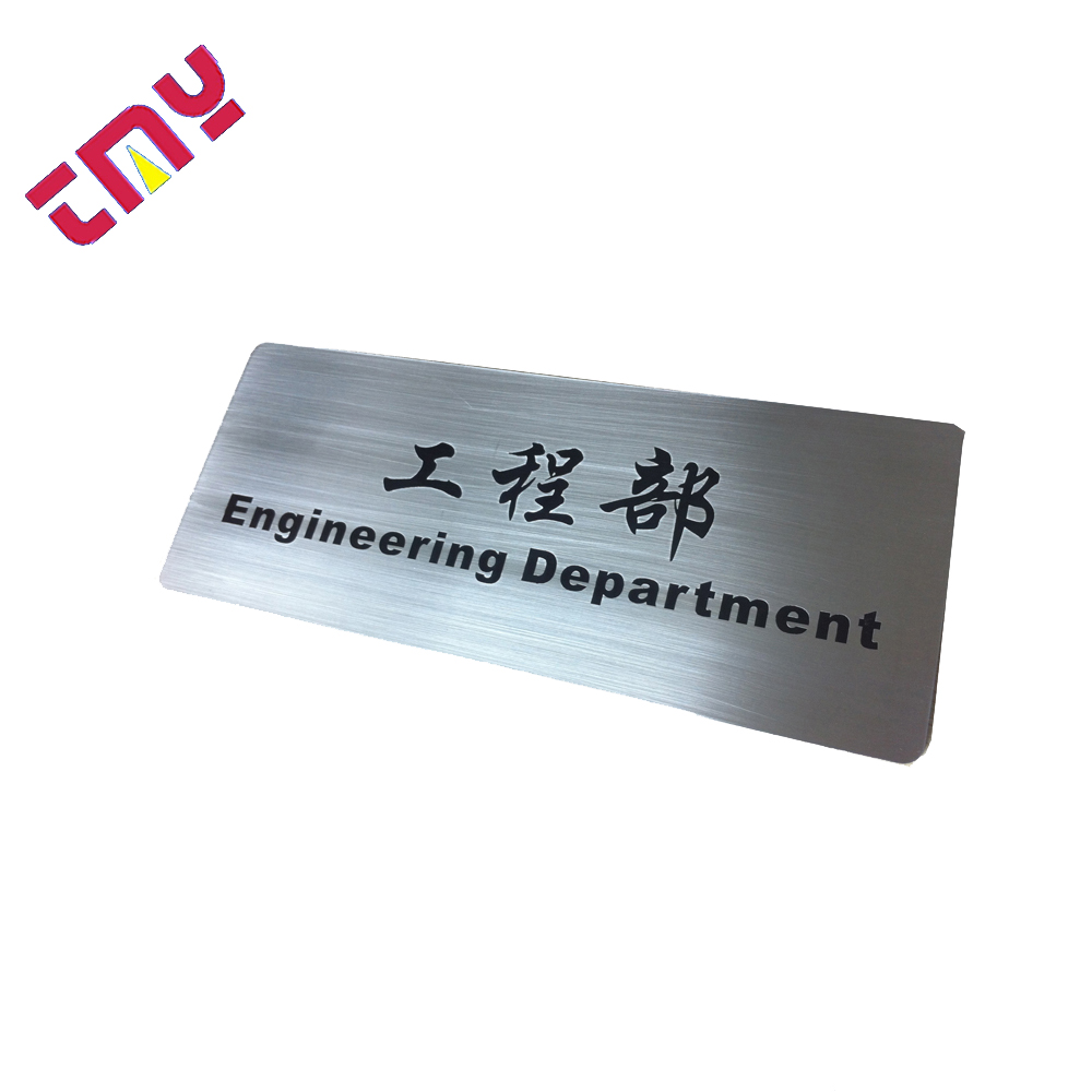 Custom Stainless Steel Office Apartment Hotel Room Number Door Sign Plate for sale