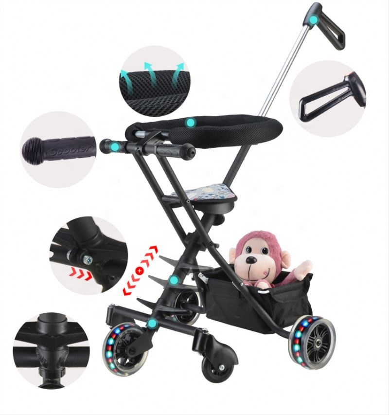 Superior quality 5 wheel durable magic stroller baby foldable cheap buggy for sale