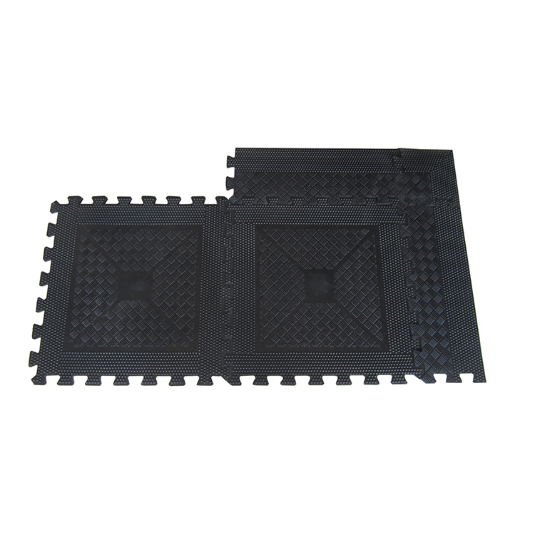 Commercial Rubber Flooring Fitness Interlocking Gym Rubber Mat for sale