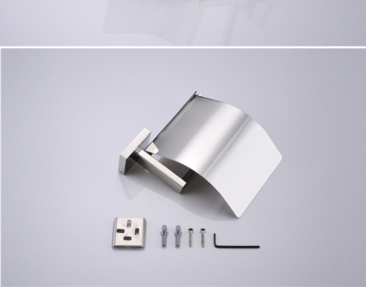 Chrome plated brass toilet paper holder with cover bathroom accessories toilet tissue paper holder toilet paper holder for sale