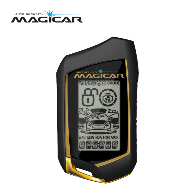 Magicar Car Alarm Two way remote start System M310 Gold sale