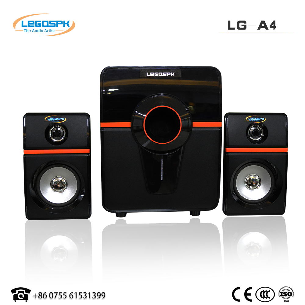 2.1 professional subwoofer speaker wooden speaker with home theater speaker high quality in cheap factory price made in China for sale