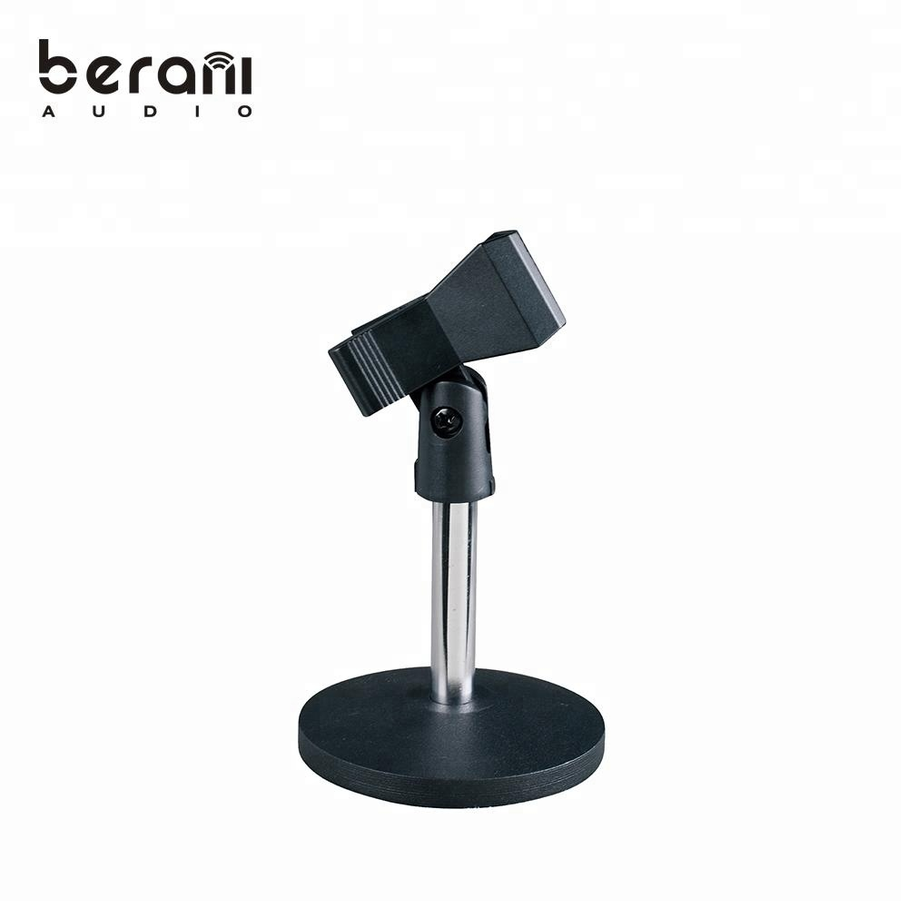 D-111 Round base mini steel microphone table stand for sale