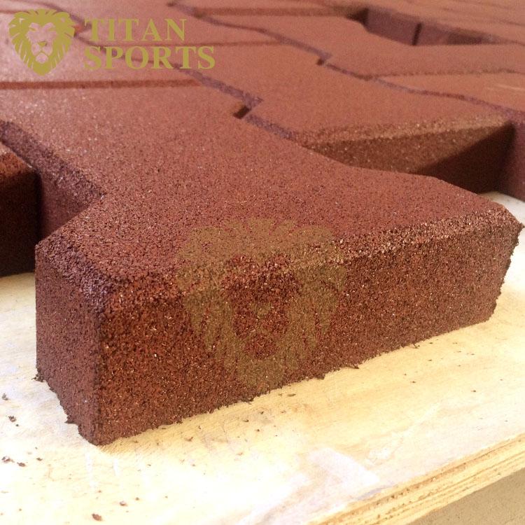 Durable rubber H pavers mat for sale