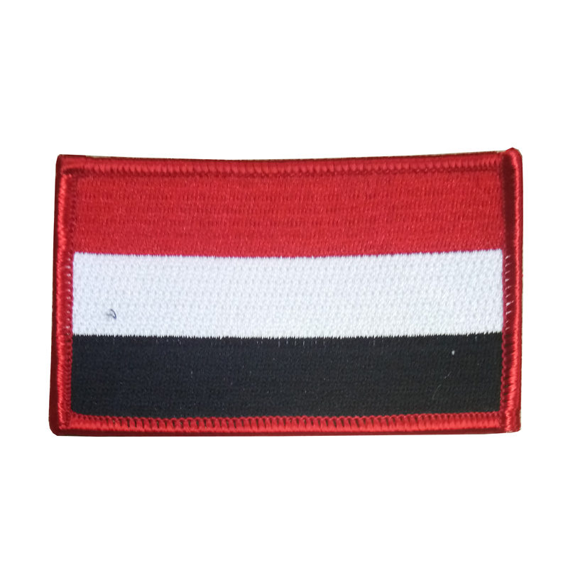 Factory supplier Custom cheap souvenir embroidery iron on country flag patch sale