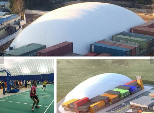 inflatable supported construction tennis court air dome sale