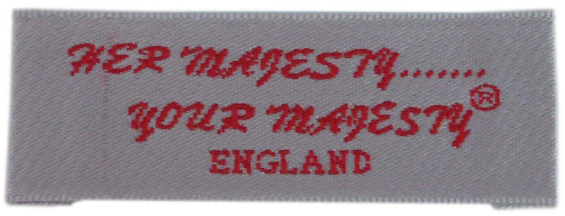 End fold garment woven tag/label for sale