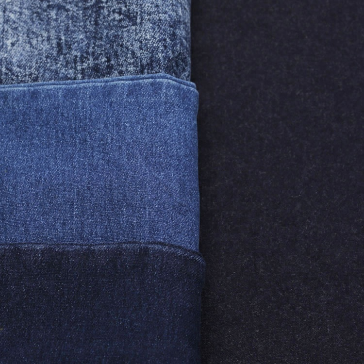 300gsm Indigo loop back cotton stretch terry fabrics for making pants sale