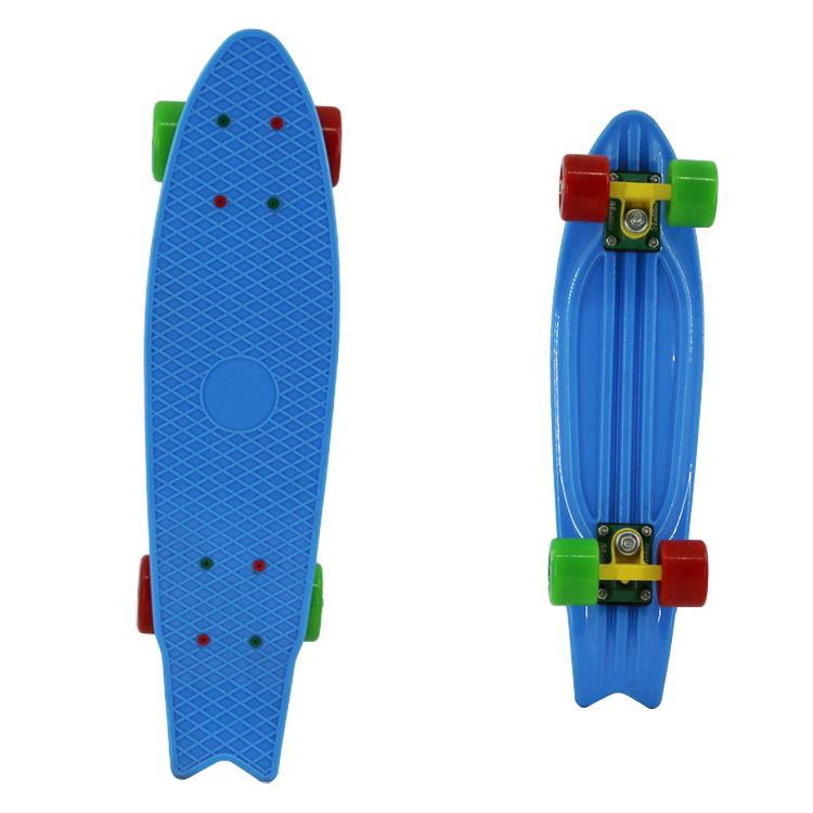 Factory Supply Super Quality Long Deck Cheap Plastic Skateboard for sale