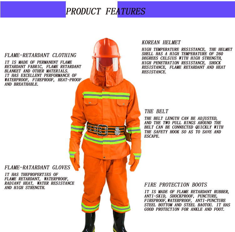 spring summer autumn winter fluorescent yellow/black reflective first-aid fire safety inspection flame ratardant clothing on Sale