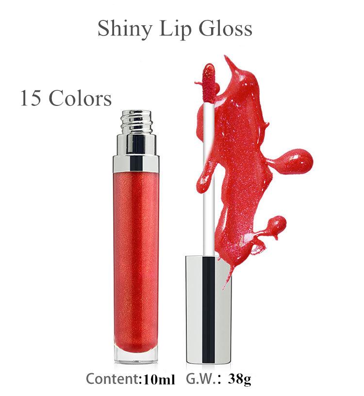 Private Label Natural Organic Matte Lipgloss Glitter Liquid Lipstick