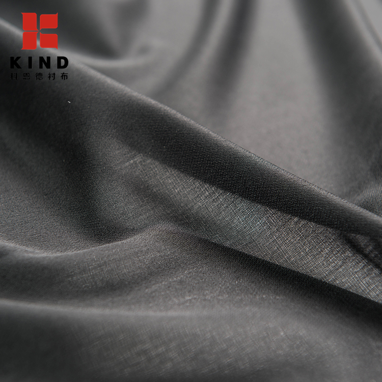 100%POLYESTER Stretch Thermal Bonded Woven inner cotton lining Fabric For Dress Lining