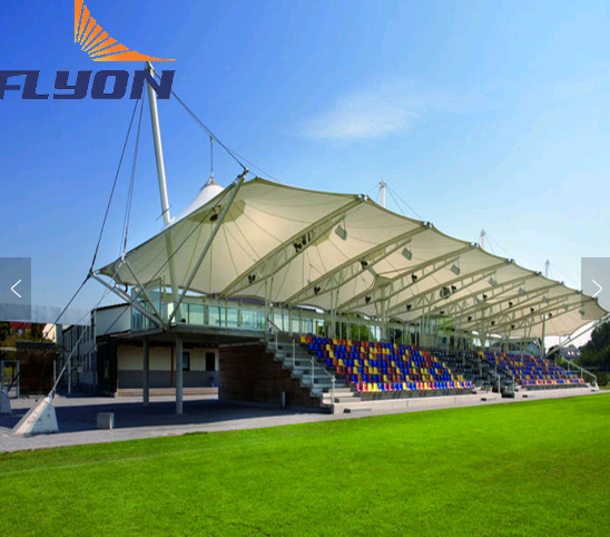 landscape building membrane structure/PVDF membrane/sports steel tent design for stadium sale