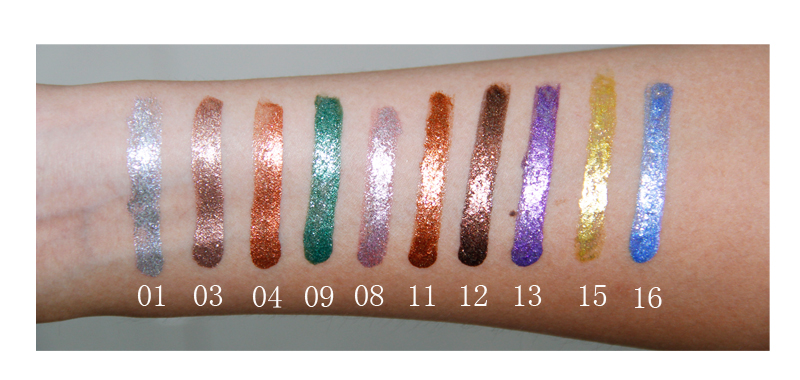 LOW MOQ 100PCS Make Your Own Private Label Wholesale Liquid Eyeshadow Glitter for sale