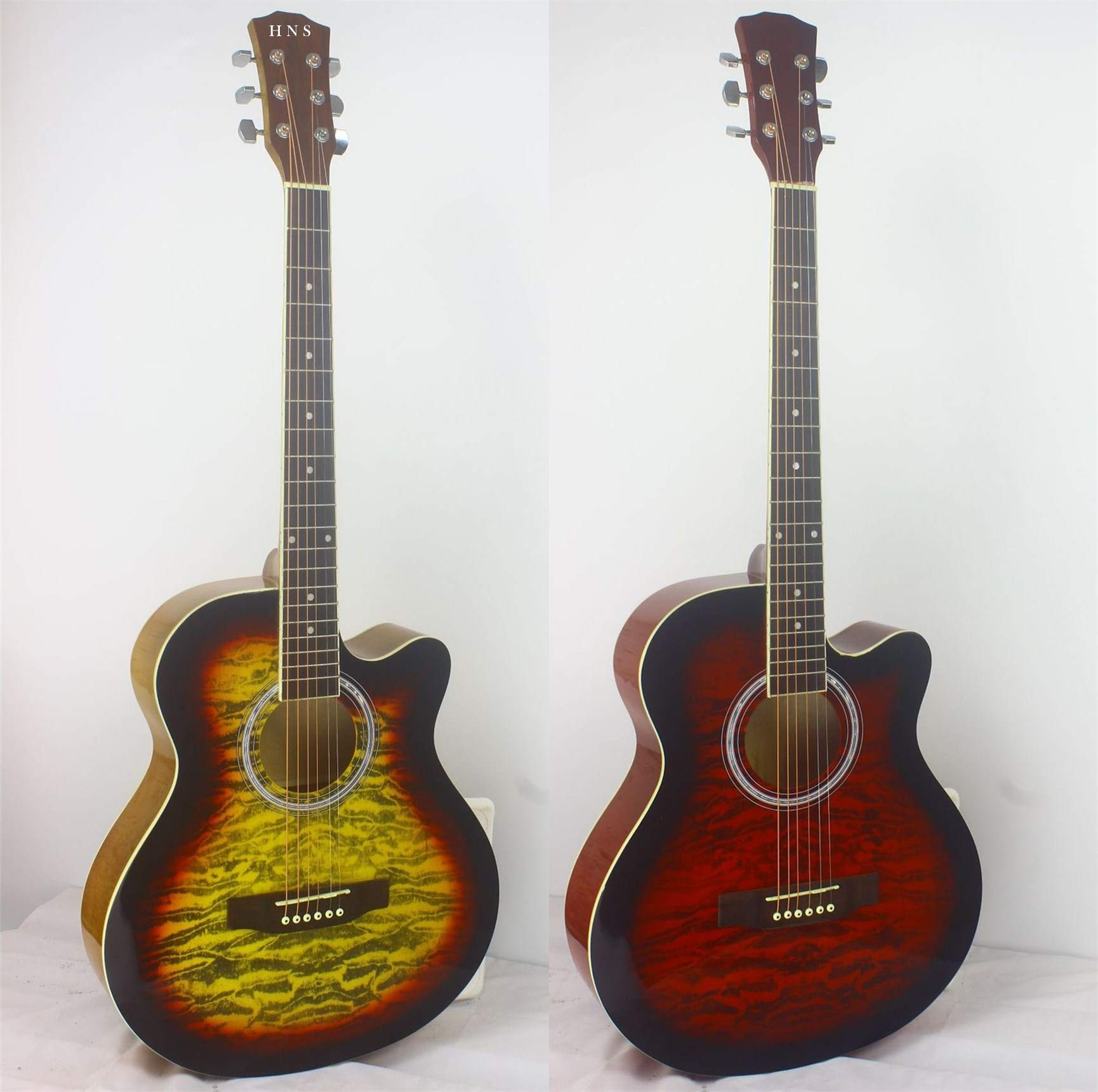 40'' linden gloss acoustic guitar made in china