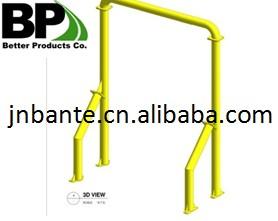 Powder coated steel bollard frame