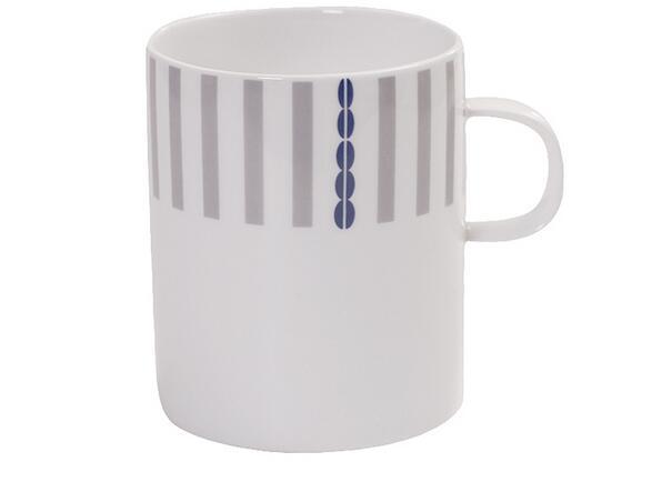 16oz  logo custom coffee mug with glazed striped