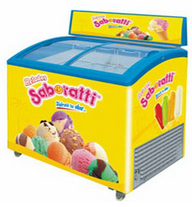 100liter to 600litre portable Hot selling ice cream freezer